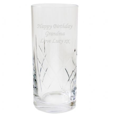 Personalised Crystal Hi-Ball Glass